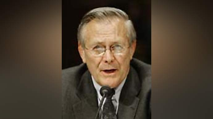 image for Donald Rumsfeld may resign over photograph fiasco
