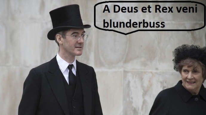 image for Arm British dinner ladies with blunderbusses says Jacob Rees-Mogg