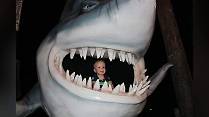 image for Trump Crippled by Fear Of Sharks