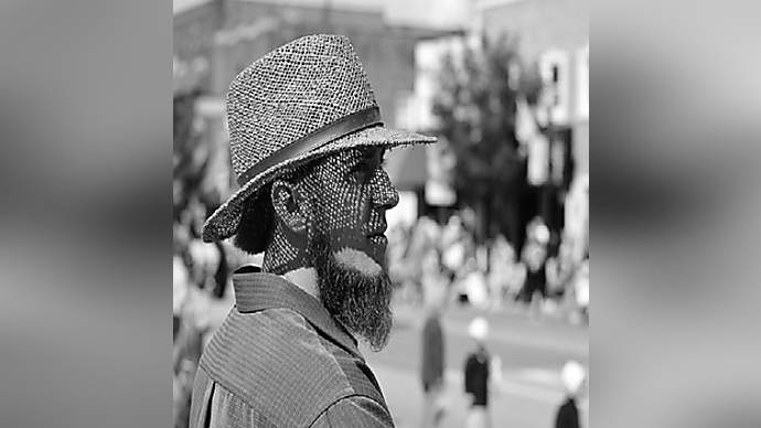 image for Amish Man Banned For Inappropriate Hat Choice