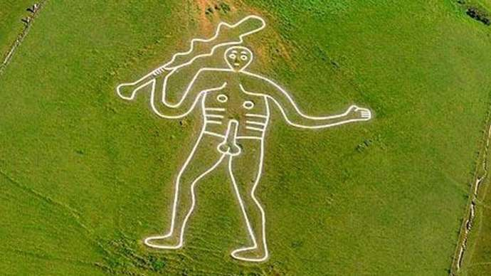image for Cerne Abbas Giant Downs Tool in Image Rights Protest