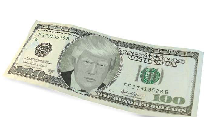 image for Trump's Face To Appear On New $1 And $1,000 Bills