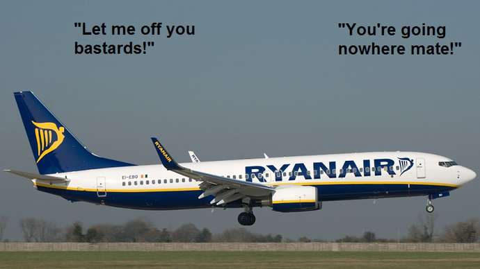 image for Raynair to flog non-speedy boarders in the departure lounge.