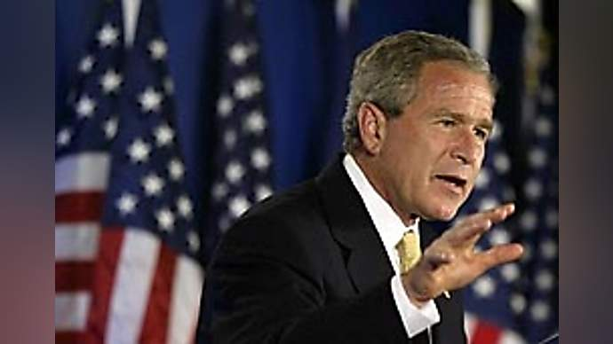 """image for """"Job loss, military shortage, outsourcing"""" Solved says Bush"""