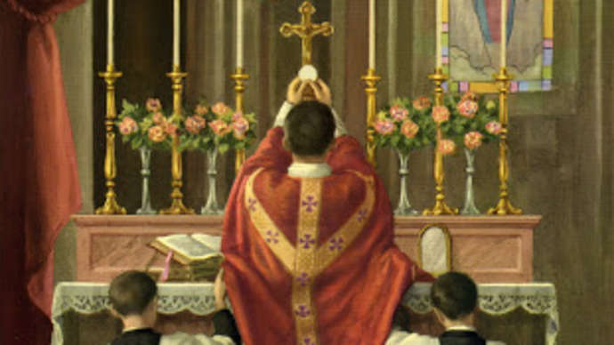 image for Arthritic local Catholic man deems it OK to give thumbs-up before Latin Mass