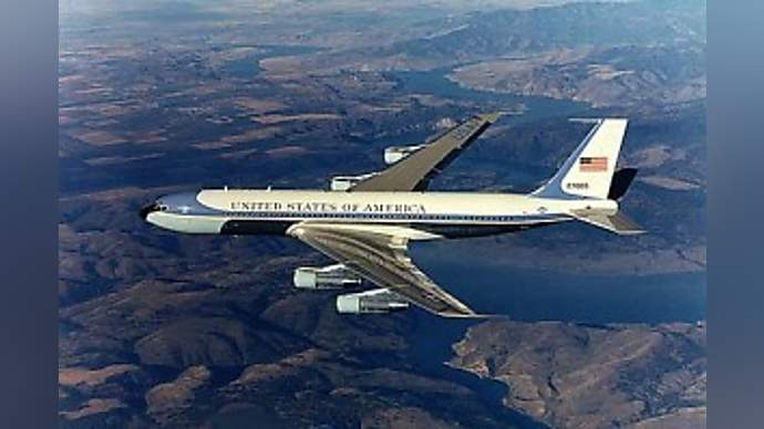 image for Air Force One Forced To Turn Back When It's Realized There's Nowhere To Land On North Sentinel