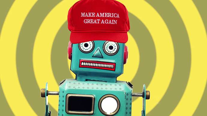 image for Russian Bot Thrilled With Invite to Trump Social Media Summit at White House