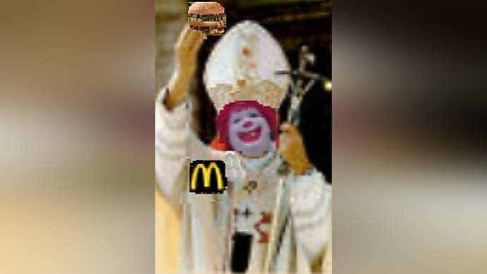image for McDonalds Purchases the Papacy, Ronald Made McPope