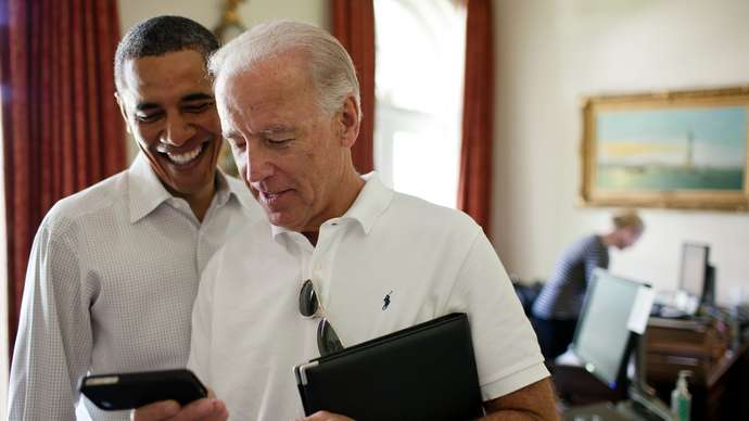 """image for Biden lays out """"anybody but"""" program plus his BSAW trophy"""