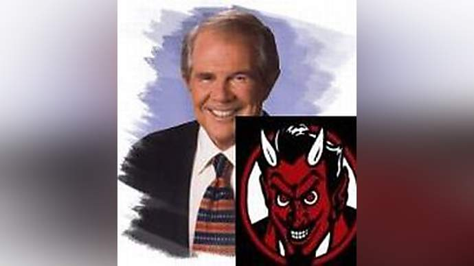 image for Pat Robertson Goes to Hell for Threatening Hugo Chavez