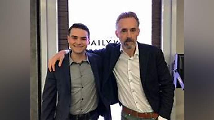image for Jordan Peterson and Ben Shapiro Accidentally Obliterate Each Other in Studio Debate Mishap