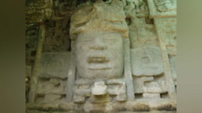 image for Third Mayan stone inscription says 'Sorry for the f**k-up, soothsayers OD'd on peyote!""