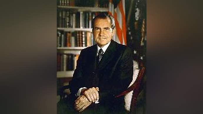 image for Nixon Returns from the Dead to Comment on Candidate Fred Thompson