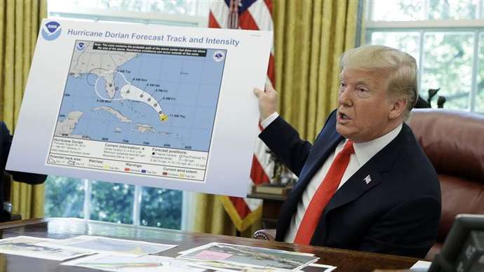 image for Trump Promises to Be the Eye of Present and Future Hurricanes