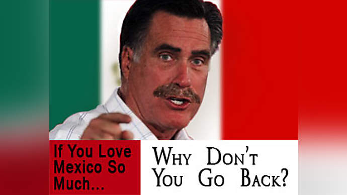 image for Trump Retweets Racist Image Of Mitt Romney As A Mexican