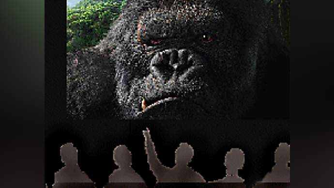 image for Bush Reviews Kong, gives it Two WMD's Down