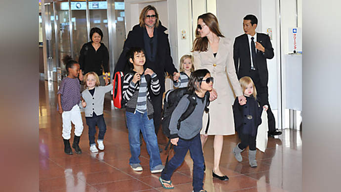 "image for Pitt-Jolie Divorce Terms : Pitt Agrees To Living On $500 a Month If She Gets All The Annoying Kids, ""Visitation neither desired nor at all necessary,"" says Pitt Lawyer."