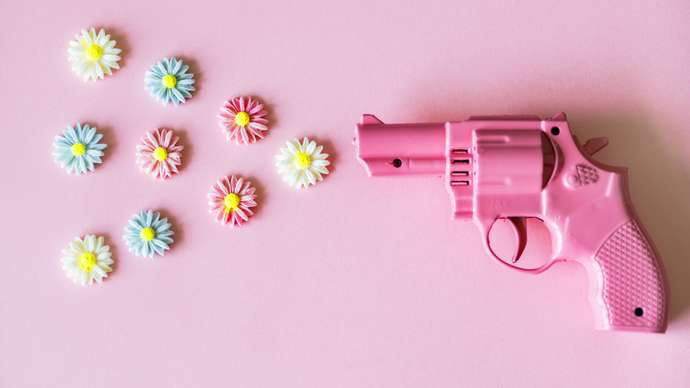image for Girlicon Pink Scented Revolvers
