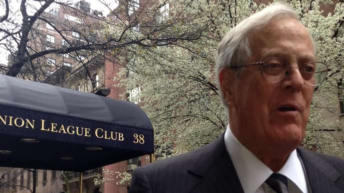 image for David Koch Dies, Leaving Behind Dozens of Loyal Employees in Congress and White House
