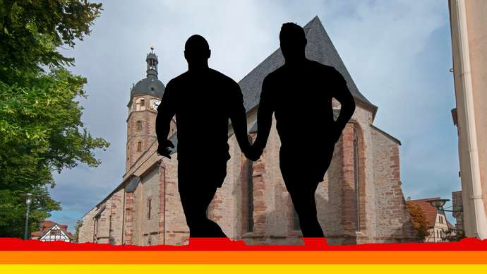 image for Gay couple are finally married