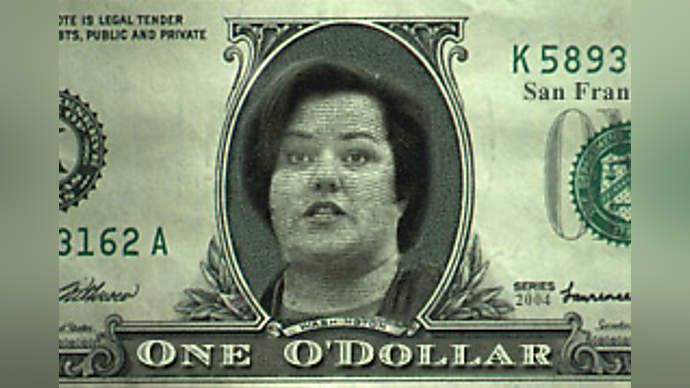 image for San Francisco Prints Own Money, Rosie's Mug Replaces George W.