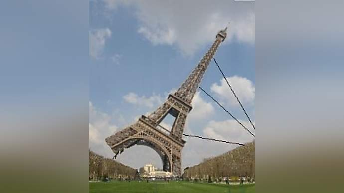 image for French Rioters Try To Pull Down Eiffel Tower