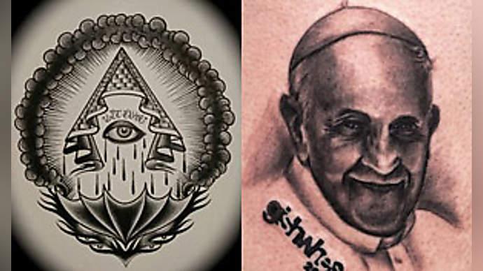 image for Girl Steals Hat, Reveals Pope's Illuminati Tattoo
