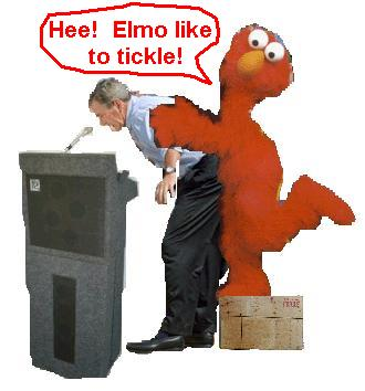 image for George Bush violated by Elmo during forthcoming election speech