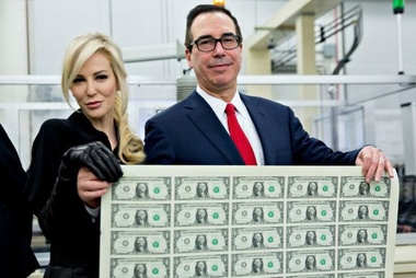 image for Mnuchin™ to compensate middle class for higher taxes with free Greenback Bathmats for the Rich