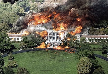 image for White House ablaze after all the recent factional skirmishes - Trump.com™ says let the Dump Burn