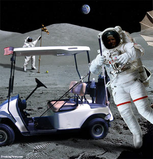 image for DUI Cops: Tiger Woods Asleep at Wheel of Spaceship