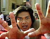 image for George Bush grants amnesty to illegal immigrants, announces George Lopez as running mate