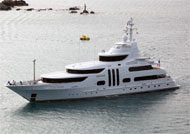 image for Tiger Woods' megayacht seen 'bobbing madly' on calm seas