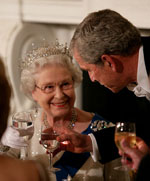 image for Queen Not Amused at Bush's Fart Joke