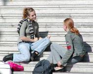 image for Two University Students Engage in Complaint-Free Conversation