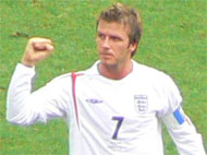 image for Beckham 'needs to score at least twice against Brazil' to get that knighthood