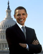 image for Barack Hussein Obama files to legally change his middle name