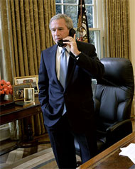 image for George Bush on his successor, Barack Obama.
