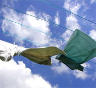 image for Man Saw Washing Blown From Lines