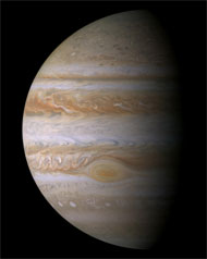 image for NASA probe to fly by Jupiter's left testicle