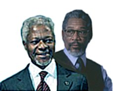 image for Kofi Annan reunited with Morgan Freeman