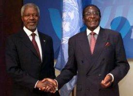 image for Kofi Annan Endorses Mugabe Plan