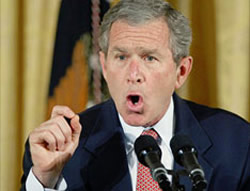 image for George W Bush in sex scandal.