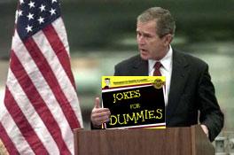 image for President finally gets Iraq War pun