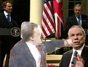 image for John Prescott visits USA & hits Colin Powell