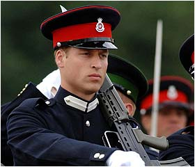 image for Prince William 'loses his marbles' at Sandhurst