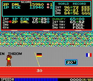 """image for Steroid Abuse Negates World Records, says Konami """"Track & Field"""" Association"""