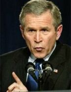image for Bush declares self President for life, calls off 2004 election