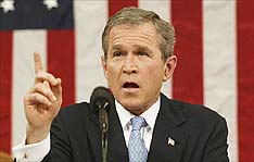 image for George Bush to Announce Controversial 3rd Term Quest in State of the Union Address
