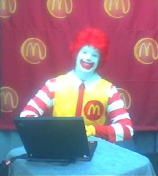 image for Ronald McDonald Is Loving It!